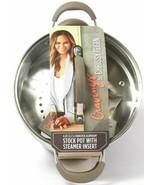 Cravings by Chrissy Teigen 6 qt Aluminum Stock Pot with Steamer Insert - Shadow - $98.99