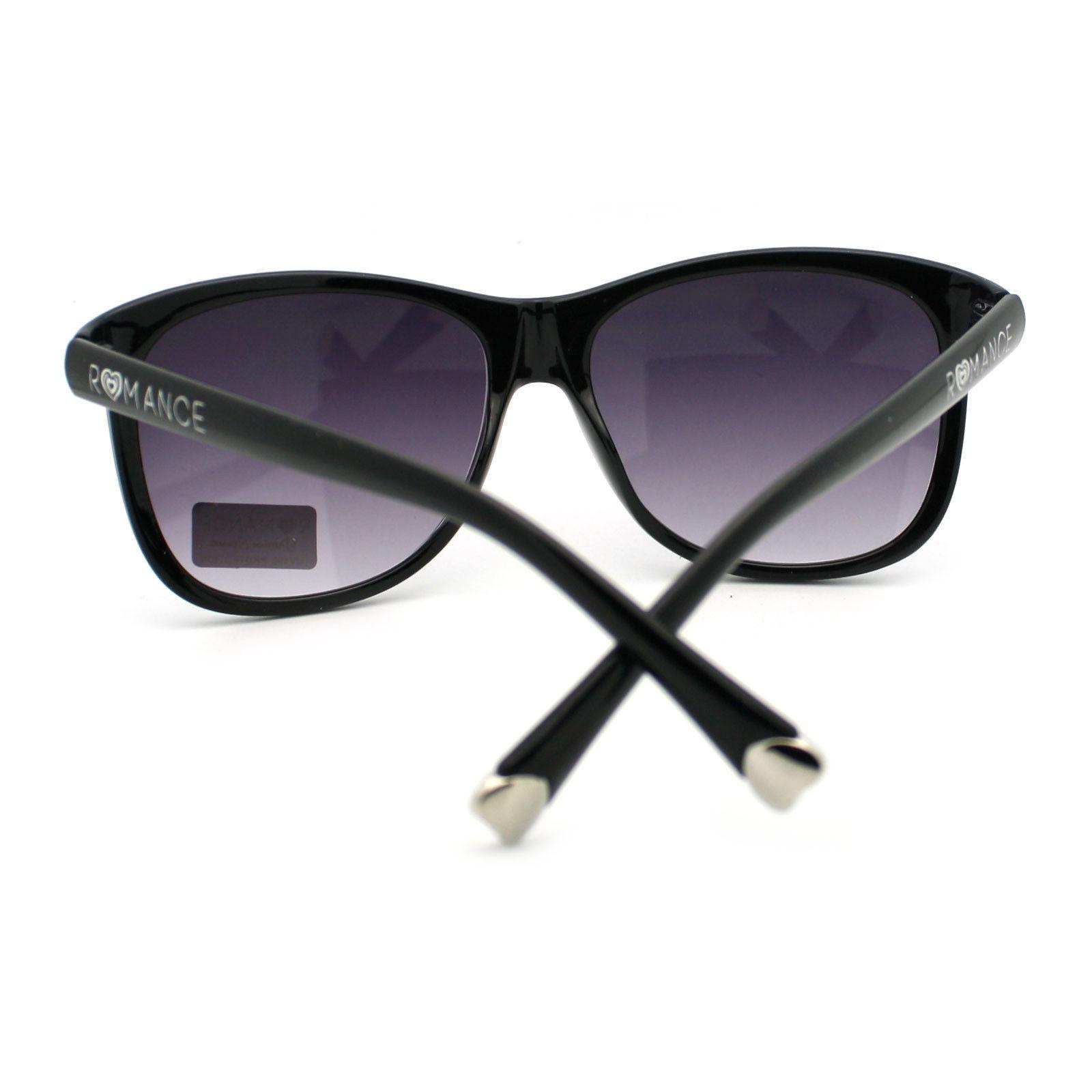 Romance Womens European Designer Fashion Retro Horn Rim Diva Sunglasses