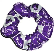 Kansas State Wildcats Fabric Hair Scrunchie Scrunchies by Sherry NCAA - $6.99