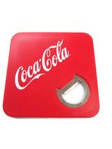 Coca-Cola Red Bottle Opener Coaster Plastic with Felt-like Backing 3.5 i... - $3.47
