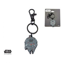 Disney Star Wars Stainless Steel Millennium Falcon with Black Plated Key... - $17.85