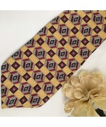 Givenchy Yellow print men's silk business tie - $39.95