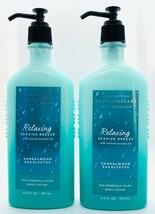 2 Bath & Body Works Aromatherapy Relaxing Seaside Breeze Sandalwood Body... - $25.60