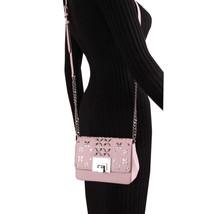 Michael Kors Tina womens small CLUTCH BAG crossbod stud floral Pink NWT  image 2