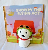 Hallmark Itty Bittys Storybook Peanuts Snoopy The Flying Ace Plush Book Set NEW - $20.99