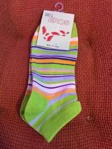 Women's And Girls Ankle Socks Green Stripe - $3.63