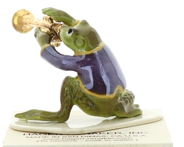 Hagen-Renaker Miniature Ceramic Frog Figurine Toadally Brass Band Trumpet Player image 4