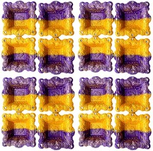 Set of 16 Vintage Square Havan Shape Diwali Festival Diya Hand Art Decor - $34.00