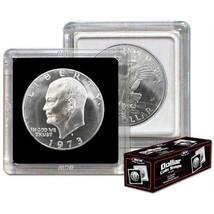 Case (500) BCW 2X2 COIN SNAP - DOLLAR - BLACK - Premium Long-term Storag... - $153.96