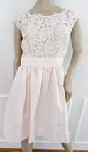 Nwt Eliza J Fit & Flare Lace Scalloped Cocktail Dress Sz 14P Petite Blush $148 - $64.30