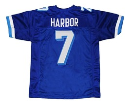 Lance Harbor #7 Varsity Blues Movie New Men Football Jersey Blue Any Size image 2