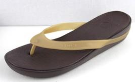 ef01ec118ceb5 Crocs women  39 s dual comfort flip flop sandal brown size w 10 -