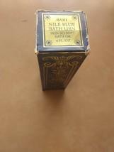 Avon Nile Blue Bath Urn-Skin So Soft Bath Oil 6 OZ 75% full - $15.99