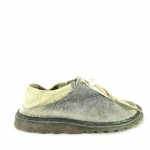 6 - Dr Martens Womens Gray Suede Drawstring Slipper Slip On Shoes 3333MC - $14.00