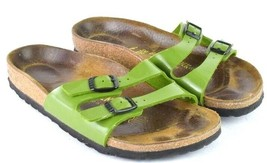 Birkenstock Germany Green Faux Leather Belted Slide Sandals Womens 36 US... - $39.59