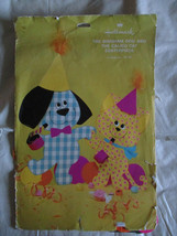Vtg Hallmark Gingham Dog,Calico Cat Children Party Centerpiece Missing F... - $5.87