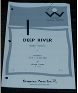 Deep River, Arranged by Roy Ringwald, 1976  OLD SHEET MUSIC - $5.93
