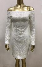 Brand Designer Designer Off Shoulder Matching Beaded Sequin Party Dress in 3 Col image 8