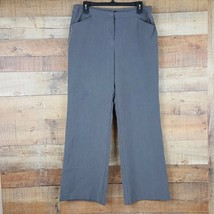 Nicole Miller Dress Pants Womens Size 12 Gray OO21 - $14.84