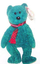 "TY 1999 WALLACE Emerald Green Teddy Bear with Tartan Scarf  New 8"" Plush... - $6.93"