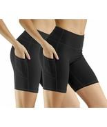 Uhnice High Waist Yoga Shorts with Pockets Tummy Control Athletic Workou... - $40.10+