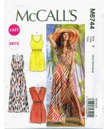 McCalls 6744 Misses Easy Knits Pullover Sundress Dress Summer pattern UNCUT FF - £10.45 GBP