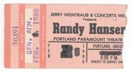 Randy Hansen 2/2/80 Portland OR Rescheduled Concert Ticket Stub! Jimi He... - $11.87