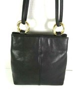 Diamicci Vintage Black Suede and Leather with Faux Leather Trim Shoulder... - $41.70