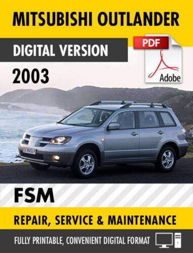 2003 MITSUBISHI OUTLANDER FACTORY SERVICE REPAIR MANUAL / WORKSHOP MANUAL