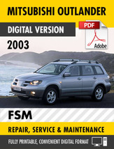 2003 Mitsubishi Outlander Factory Service Repair Manual / Workshop Manual - $13.86