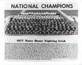 1977 Notre Dame Team 8X10 Photo Fighting Irish Picture Ncaa Football Champs - $3.95