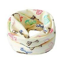 2PCS Baby Scarves Bow-Knot Pattern Warm Neckerchiefs Cotton O-Neck Scarves