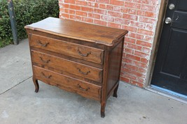 French Antique Louis XV Solid Oak Wood Chest Of Drawers Small Bedroom Dr... - $1,182.75