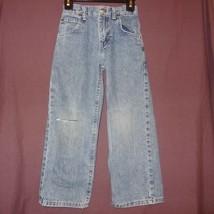 Blue Jeans Denim Boys Size 6 Regular Ripped Knee Adjustable Waist Lee - $9.99