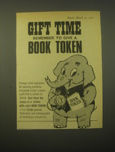 1965 Book Tokens Ad - Gift time remember to give a Book Token - $14.99