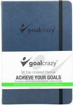 Goal Crazy 2019 Planner - 90 Day Productivity Journal, Black Leather, Undated image 11