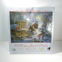 "Country Shopping christmas themed by Nicky Boehme 20"" x 27"" 1000 Pc Puzzle - $19.79"