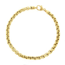 "Authentic Tiffany & Co. 18K Yellow Gold 5mm Box Link Bracelet Size 8"" U25 - $3,995.00"