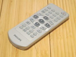 Philips DVD Player Remote Control Silver Small No Model Number Tested & ... - $13.99