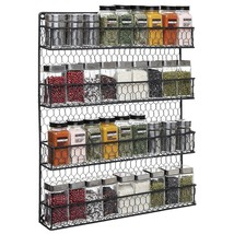 Spice Storage Rack 4 Shelf Wall Mount Cabinet Jars Organizer Kitchen Jar... - $52.42
