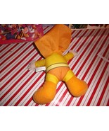 WEIRD SUPERMAN PLUSH TOY * MINT WITH TAGS * ORANGE & YELLOW COLOR SCHEME!! - $10.00