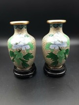 Set Of Vintage Cloisonne Hand-crafted/Painted Vases - $50.00
