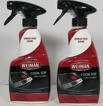 2 Pack Weiman Cook Top Daily Cleaner Spray Streak Free Shine Stovetop household  - $20.99