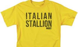 Rocky Italian Stallion T-shirt Logo Retro 70's 80's Movie Cotton Tee MGM183 image 3