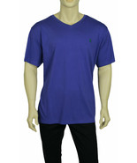 NEW MENS POLO RALPH LAUREN PONY COTTON JERSEY PURPLE V NECK T SHIRT TEE M - $19.79