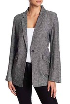 Abound Womens Notch Lapel Long Sleeves One Button Linen Blend Blazer Siz... - $19.79