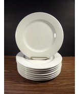 "New Set of (8) Secla White 8 3/8"" Salad Plates - Made in Portugal - $44.99"