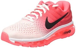 Nike Womens Air Max 2017 Running Shoes 8.5, White/Black/Hot Punch - $234.92