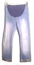 Sz S - Motherhood Blue Jean Denim Jeans w/Front Stretch Panel & Zebra St... - $28.49