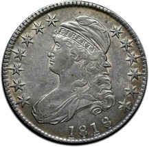 1818 Capped Bust Silver Half Dollar 50¢ Coin Lot# A 385 image 1